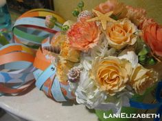 Oceanside themed First Birthday flowers and decor by Lani Elizabeth