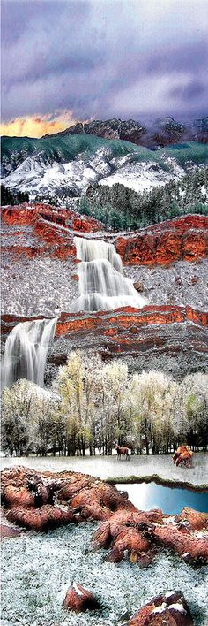 Rimrock Waterfall, Colorado  ♥ ♥ www.paintingyouwithwords.com