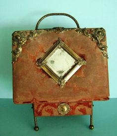 Vintage victorian photo album with stand