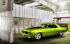 69 Camaro Green Monster Garage by William Stern