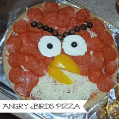Make an angry birds pizza! Super easy, and what a fun treat for dinner!