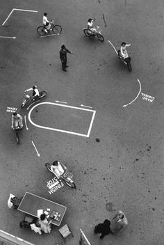 Children participate in a bicycle safety program run by the New York City police in June 1954.