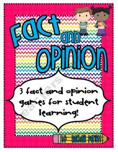 Fact vs Opinion games