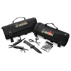 """12 Survivors Roll Up Survival Kits """"... for knifing zombies or food"""""""