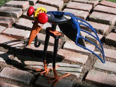 Bird Metal Sculpture Shovel Bird Yard Bird by rustaboutcreations, $134.99