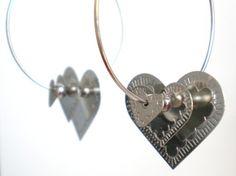 Silver Triple Heart Hoop Earrings by EridaneasBoutique on Etsy, $16.00