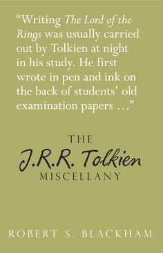 A fascinating miscellany which explores the fascinating and enigmatic world of J.R.R. Tolkien, examining his place in literary history, his books and his iconic characters. The reader can explore facts and trivia from Tolkien's life and works, including his early life in southern Africa and Birmingham, Tolkien on the silver screen, his role in the two world wars and his friendship with C.S. Lewis, as well as the places that inspired his fictional world of Middle-earth.