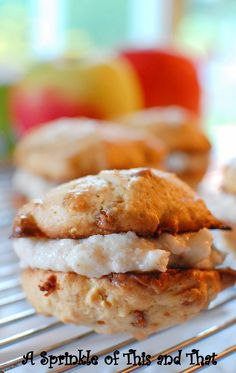 Apple Cinnamon Chip Cookie Sandwiches with Cinnamon Buttercream Icing...totally says September