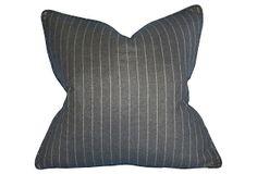 Stripe Wool 22x22 Pillow, Charcoal on OneKingsLane.com.  Handsome!