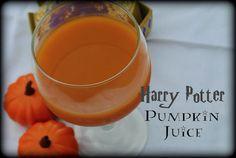 Harry Potter Pumpkin Juice. Crazy easy, only four ingredients.