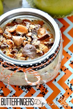 The yummiest Butterfinger Dip Recipe ~ This is SO GOOD!