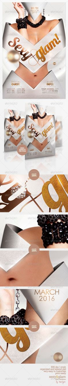 fashion flyer, flyer templat, templat graphicriv, glam flyer, flyer clubparti, print templat