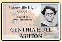 high school reunion nametag