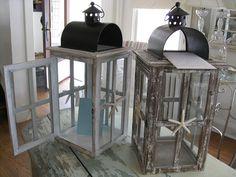 Beach lantern cardboxes - whitewash or driftwood
