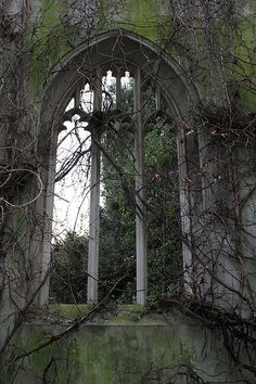 The ruins of St.Dunstan-in-the-East Church in London, England.