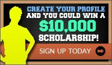 You could win a $10,000 college scholarship just for registering!
