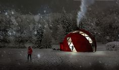 Prefab folding dome home. #eco #green #sustainability #architecture