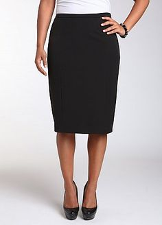 A good black skirt for us curvy ladies, and the price is fantastic. $30 (sizes 10 - 26) #skirt #fashion