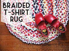 Braided T-shirt Rug Tutorial
