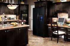 Kitchen remodel on pinterest 30 pins for Chocolate kitchen cabinets with stainless steel appliances