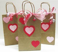 DYI Cute Valentine's Gift Bags