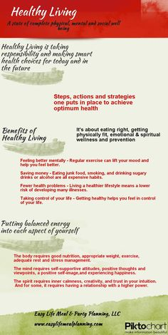 What Does Healthy Living Really Mean by www.easylifemealandpartyplanning.blogspot.com