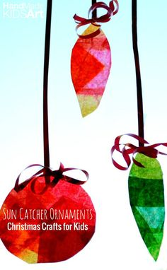 Christmas Crafts for Kids: Easy Christmas art project for kids.