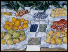 Gustave Caillebotte, Fruit Displayed on a Stand, about 1881–82.