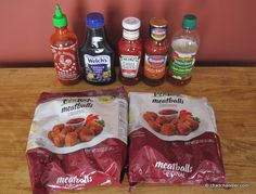 """An excellent """"Crockpot meatballs"""" recipe, when you don't want super-sweet meatballs for a party. This one has just the right combo of spice, sweetness, and sourness to make a crockpot-lickin' good recipe! Had these out at my grad party-- not one meatball left."""