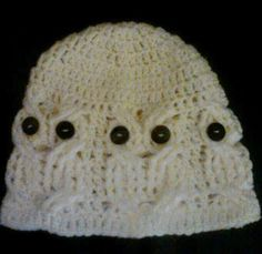 Adorable #Crochet Owl Hat set - Bits and Bobs Zone (not a pattern)