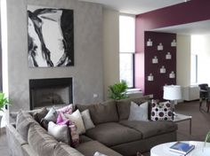 Brushed Metallic Paint Finish on Feature Wall using Modern Masters Metallic Paint Collection