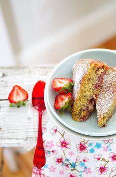 strawberry cake -- La tartine gourmande