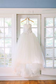 Gorg ballroom gown. Photography by amandakphotoart.com, Floral Design by amysflowersandgiftsne.com, Read more - http://www.stylemepretty.com/2013/06/19/omaha-wedding-from-kale-fitch-films-amanda-k-photography/
