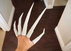 how to make nightmare claws tutorial