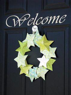 Summer 3-D Star Wreath