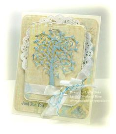 Linda Duke designed this card for No Time To Stamp using Spellbinders' Die D-Lites
