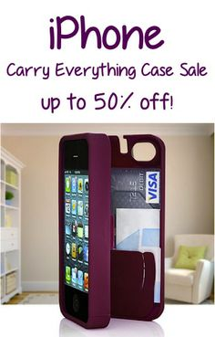 iPhone Carry Everything Case Sale: up to 50% off! #iphones