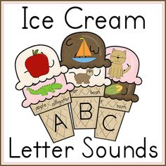 FREEBIE Ice Cream Letter Sounds Printable