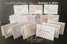 Stampin' Up! World Card Making Day Cards by Melissa Davies @ rubberfunatics