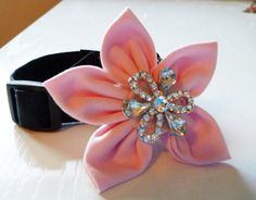 Wedding Collar & Flower  Made to Order Your Choice of Colors and Size by katiesk9kollars, $20.00