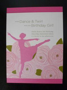 Ballerina birthday party invitation