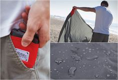 """The Matador Pocket Blanket is a a blanket that fits in the palm of your hand! The ultra compact blanket unravels to 55x44 inches, big enough to fit four people sitting or two people laying. HyprLyte Nylon / water repellent / puncture resistant / weighted corners for breezy days / """"easy pack pattern"""" for easy folding / includes attached storage pouch. Perfect for picnics, beaches, concerts, festivals, naps, yoga, etc…"""