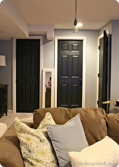 Black interior doors (and how to paint them)