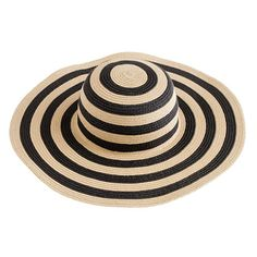 striped summer straw hat.