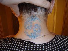 Cancer Zodiac Sign Tattoos: Neck Blue Water Flowy 69 Cancer Tattoo Design For Women ~ tattoosartdesigns.com Zodiac Tattoo Inspiration