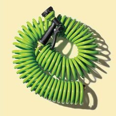 Great for watering pots on a deck or patio, the 25' Orbit hose practically coils itself up after use and weighs about half as much as a traditional model.  About $22 from amazon.com.    Photo: Lisa Shin   thisoldhouse.com