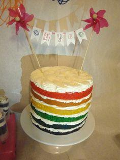Great naked rainbow cake