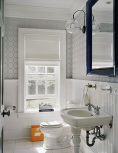 i don't like wallpaper... but this wall treatment could easily be done with paint!