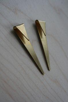 laura lombardi geometric spike earrings