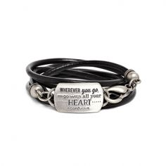 """Mantra Dream bracelet - available in brass and silver. Get 25% off this bracelet with code """"foxypin""""  http://www.foxyoriginals.com/Wherever-You-Go-Mantra-Bracelet-Silver.html"""